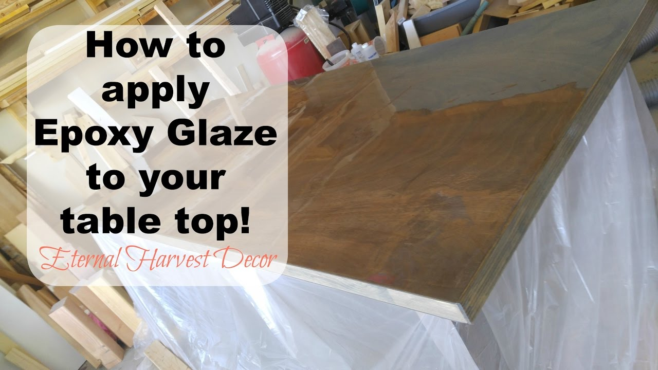 Epoxy Resin Super Glaze Table Top Youtube