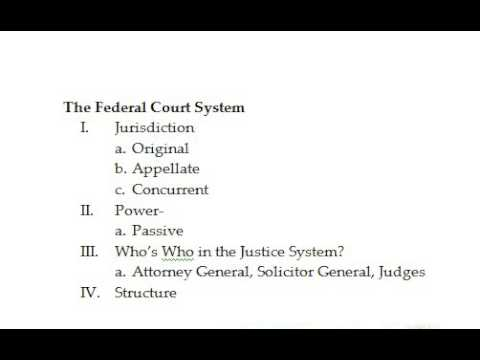 Intro to Federal Courts