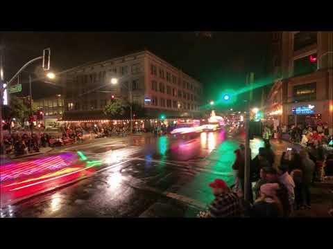 Celebration Of Lights Parade.  Downtown Modesto, California. December 1, 2018