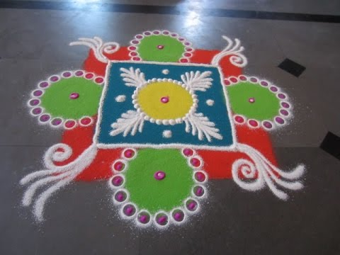 sanskar bharti colourfull rangoli design s37 youtube
