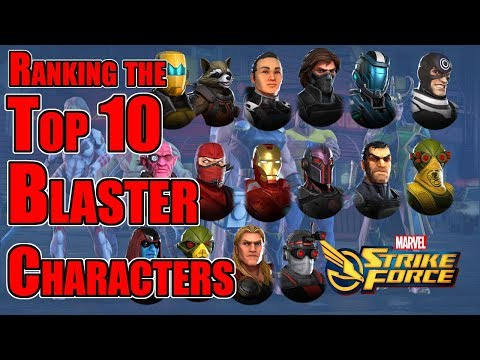 Marvel Strike Force - Top Ten Blaster Characters