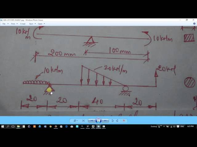 ANSYS tutorial for UDL and  UVL beam problem 2