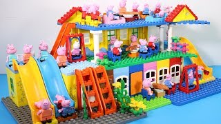 Peppa Pig Lego House Creations With Water Slide Toys For Kids #4