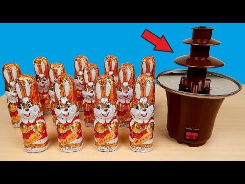НОВЫЙ Мини-Фонтан! Фонтан из Шоколадных Зайцев! Что если сделать? Alex Boyko