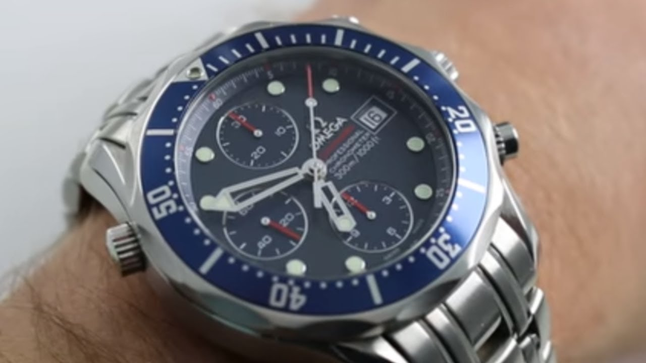 355330c5c17c Omega Seamaster Diver 300M Chronograph Ref. 2225.80.00 Watch Review ...