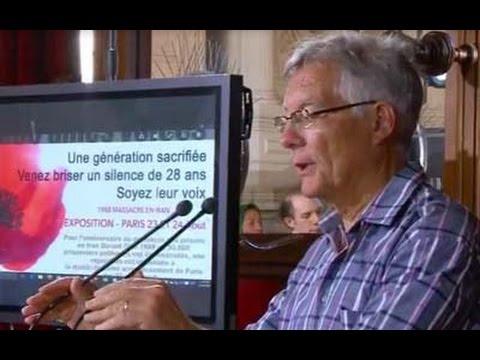 Jean-Pierre Bequet à l'exposition sur le massacre des prisonniers politiques en Iran