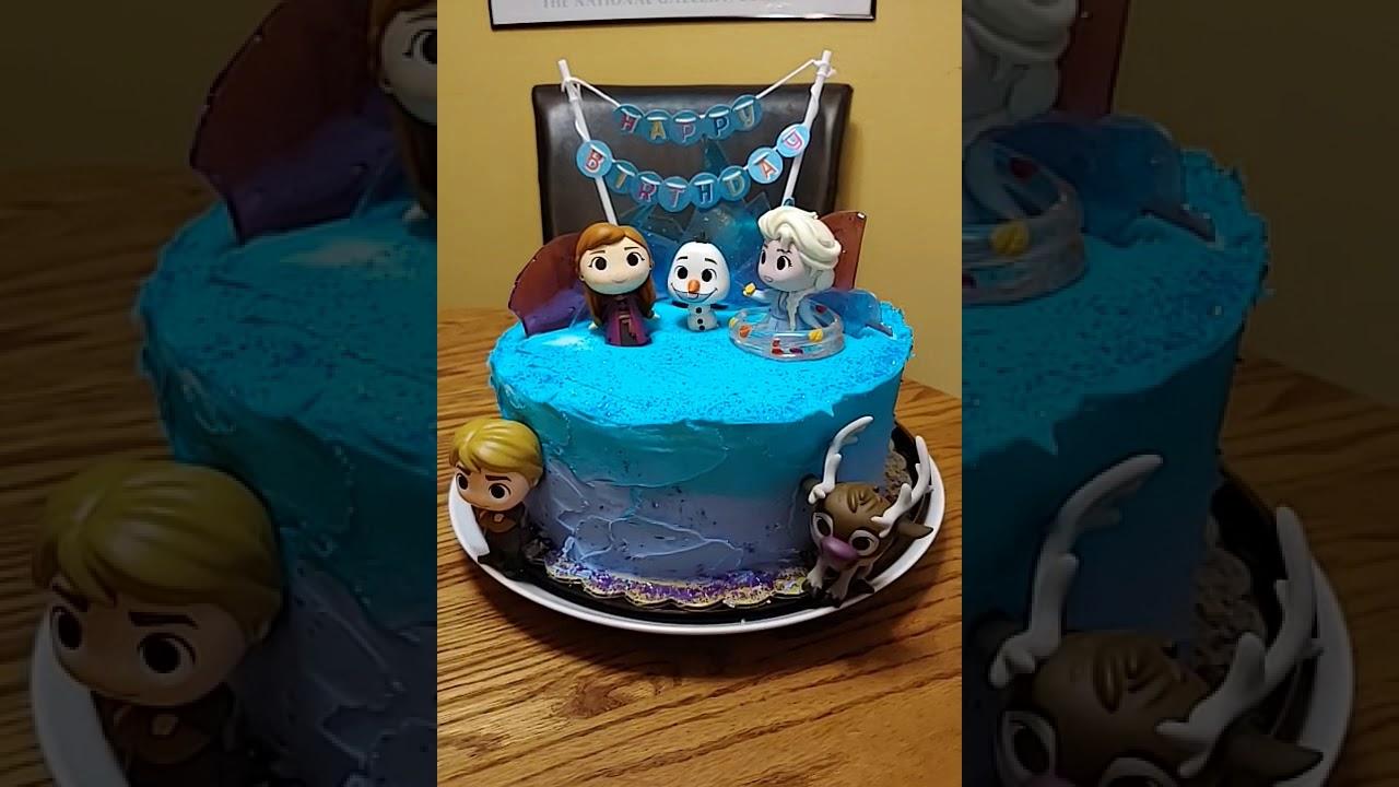 Cutest Frozen 2 Birthday Cake Ever Youtube