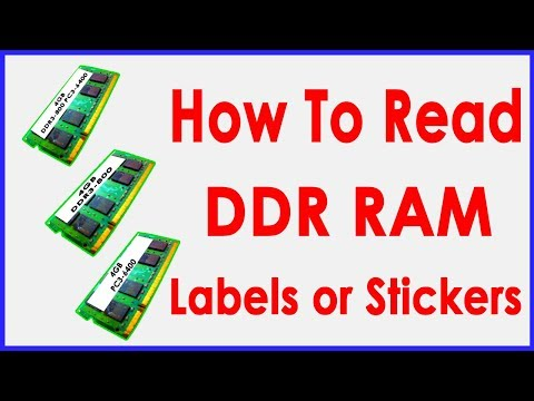 DDR RAM: How To Read Memory Specifications?