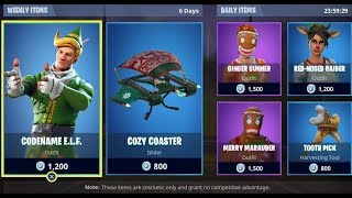 * NEW FORTNITE COUNTDOWN SHOP ITEM! CODENAME ELF!?!? -DECEMBER 25th #XMAS