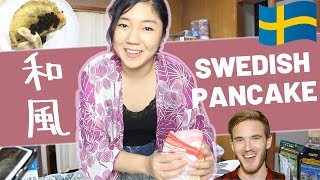 Japanese Tried Pewdiepie&#39s Swedish Pancake  和風Ver