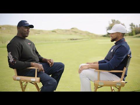 Michael Jordan and Stephen Curry Talk Ryder Cup, Golf, Basketball