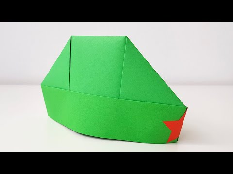 Пилотка ОРИГАМИ Ещё один способ Как сделать пилотку из бумаги а4 Поделки на 9 Мая своими руками DIY