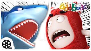 Cartoon | Oddbods Vs SHARK ATTACK | Funny Cartoons For Children