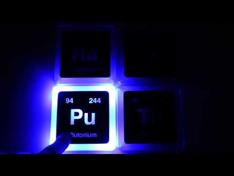 Radioactive elements glowing coaster set from thinkgeek youtube youtube - Radioactive coasters ...