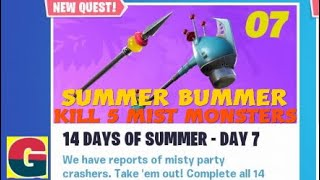 FORTNITE STW/ 14 DAYS OF SUMMER - SUMMER BUMMER (KILL 5 MIST MONSTERS OF ANY KIND)