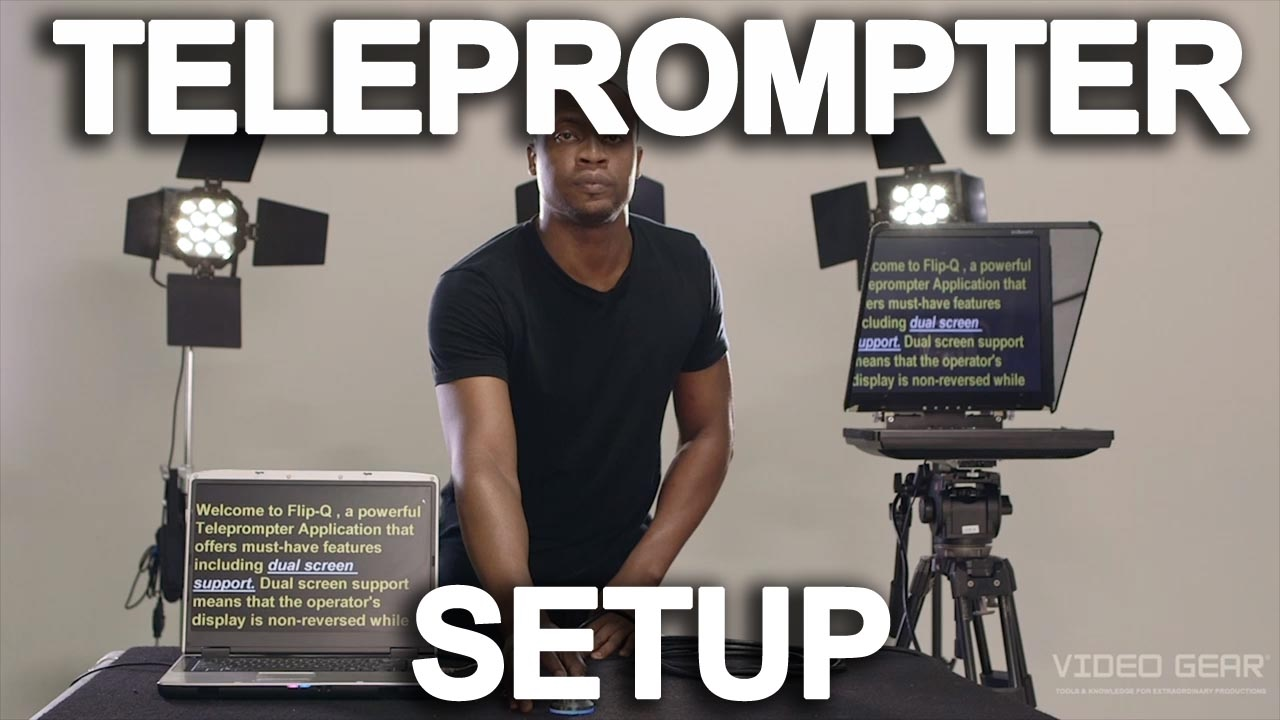 How To Setup A Teleprompter Ep 1 Tutorial Youtube