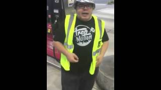 Just Juice - Nice With It: Dude Goes In With The Flow At A Gas Station!