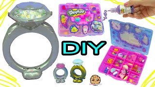 DIY Giant Diamond Ring + Season 7 Shopkins Box - Dollar Tree Do It Yourself Craft Video