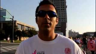Dr Prashant Rao at the Susan G Komen Race for the Cure walk/run Charlotte NC Thumbnail