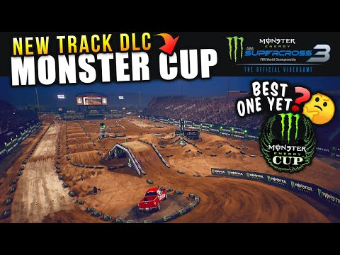 NEW MONSTER ENERGY CUP DLC! - Monster Energy Supercross 3 Gameplay