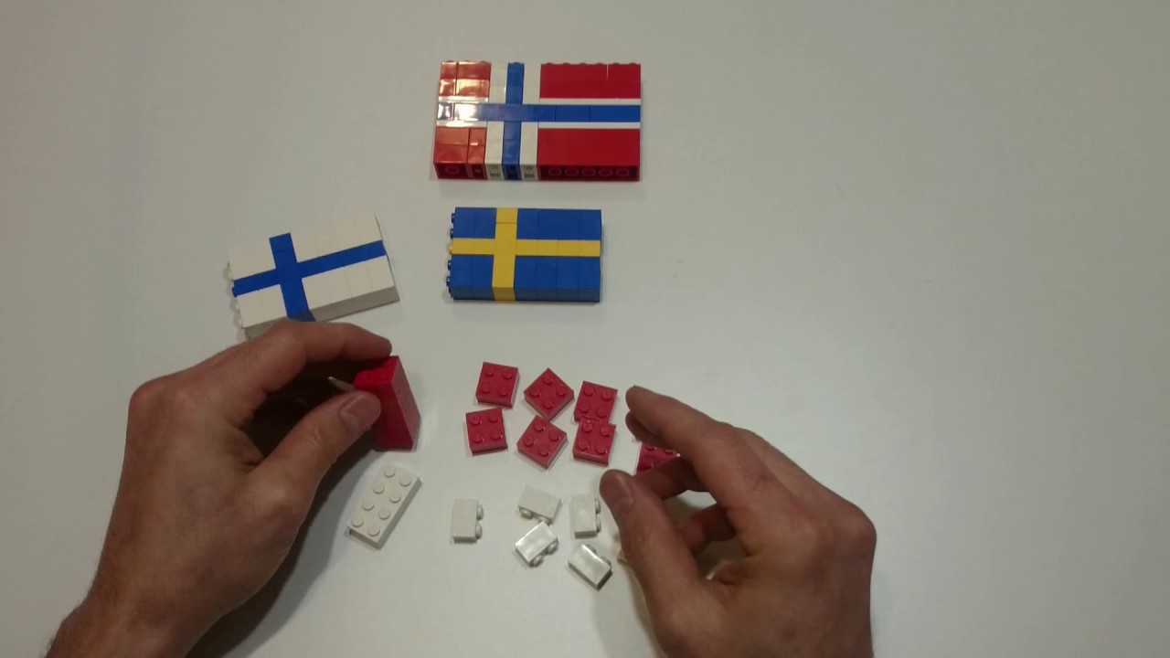 how to make flags with lego bricks part 1 sweden finland