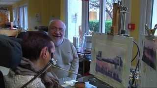 Portrait de Serge Maudet, peintre