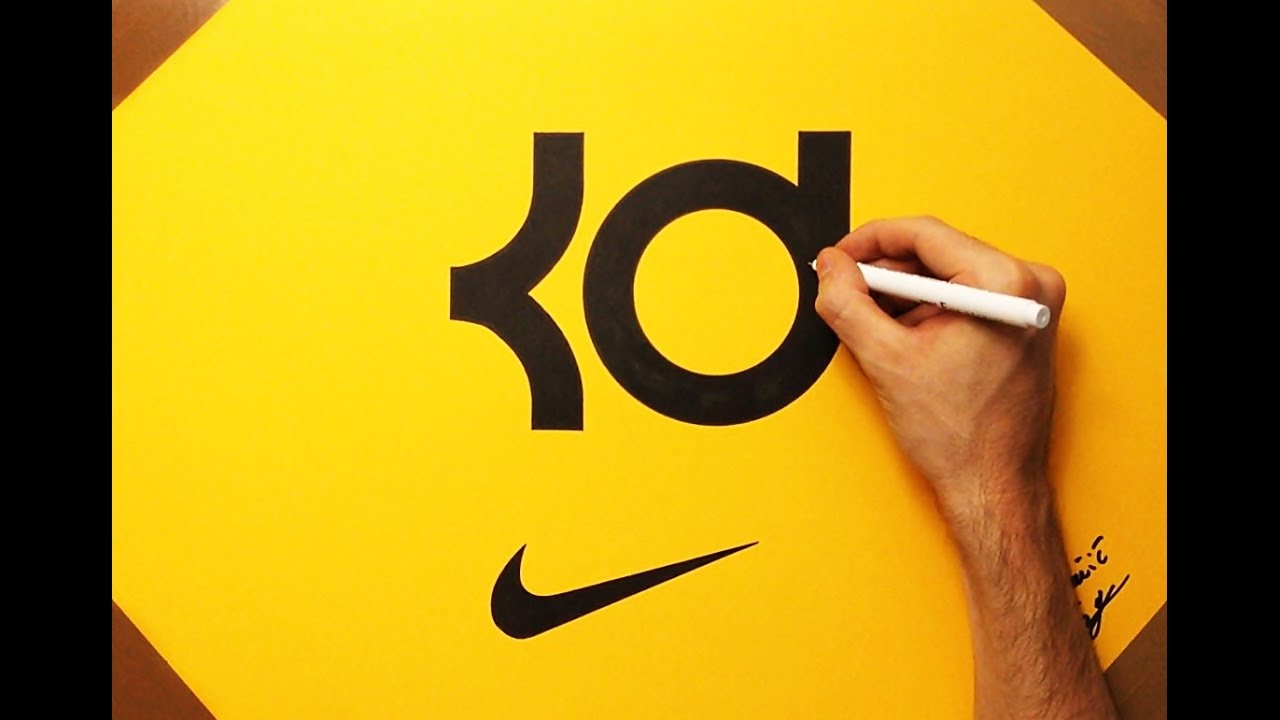 ... How to Draw the KD Logo Kevin Durant NBA Nike | Fan Art - YouTube ...