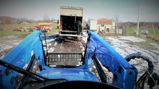 How Will Our New Holland T5 Handle Snow Storm 2018? (what snow?!)