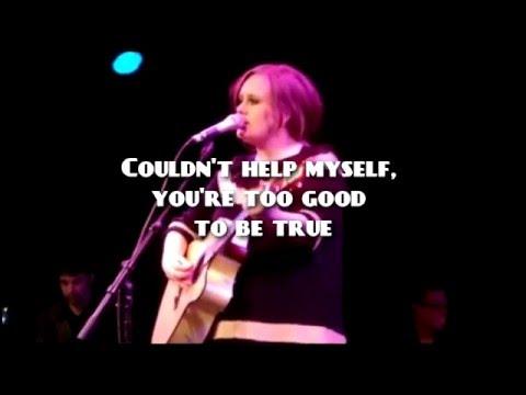 Adele karaoke i found a boy