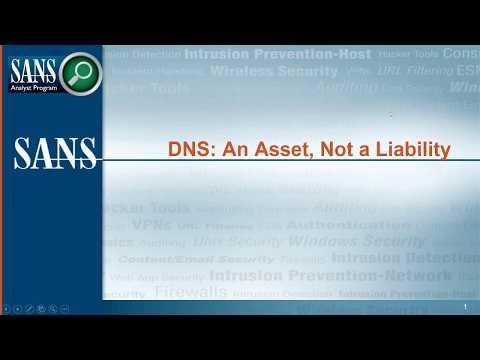 Title: DNS - An Asset, Not a Liability