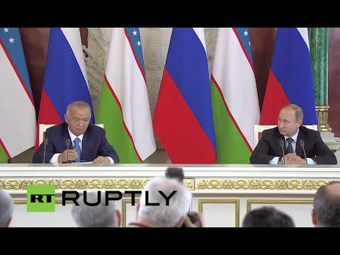 LIVE: Putin and Uzbek President Karimov hold joint statement in Moscow