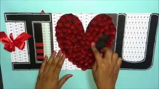 Beautiful Love Greeting card idea for Boyfriend   DIY Love Greeting card   complete tutorial