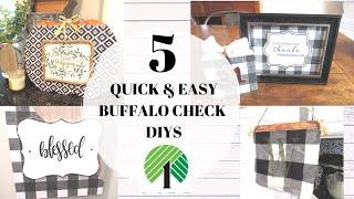 5 Dollar Tree DIYS | Buffalo Check Decor | Quick & Easy Buffalo Check DIYS