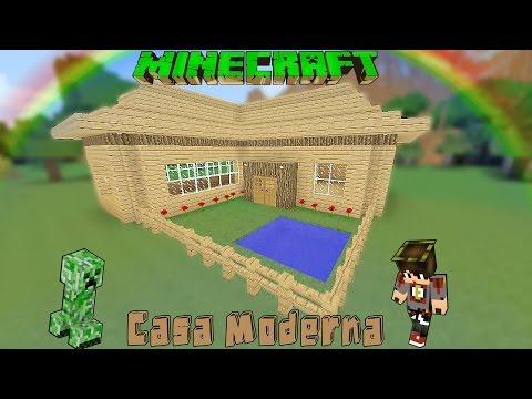 Minecraft casa moderna de madera facil tutorial 183 for Casa moderna wiki