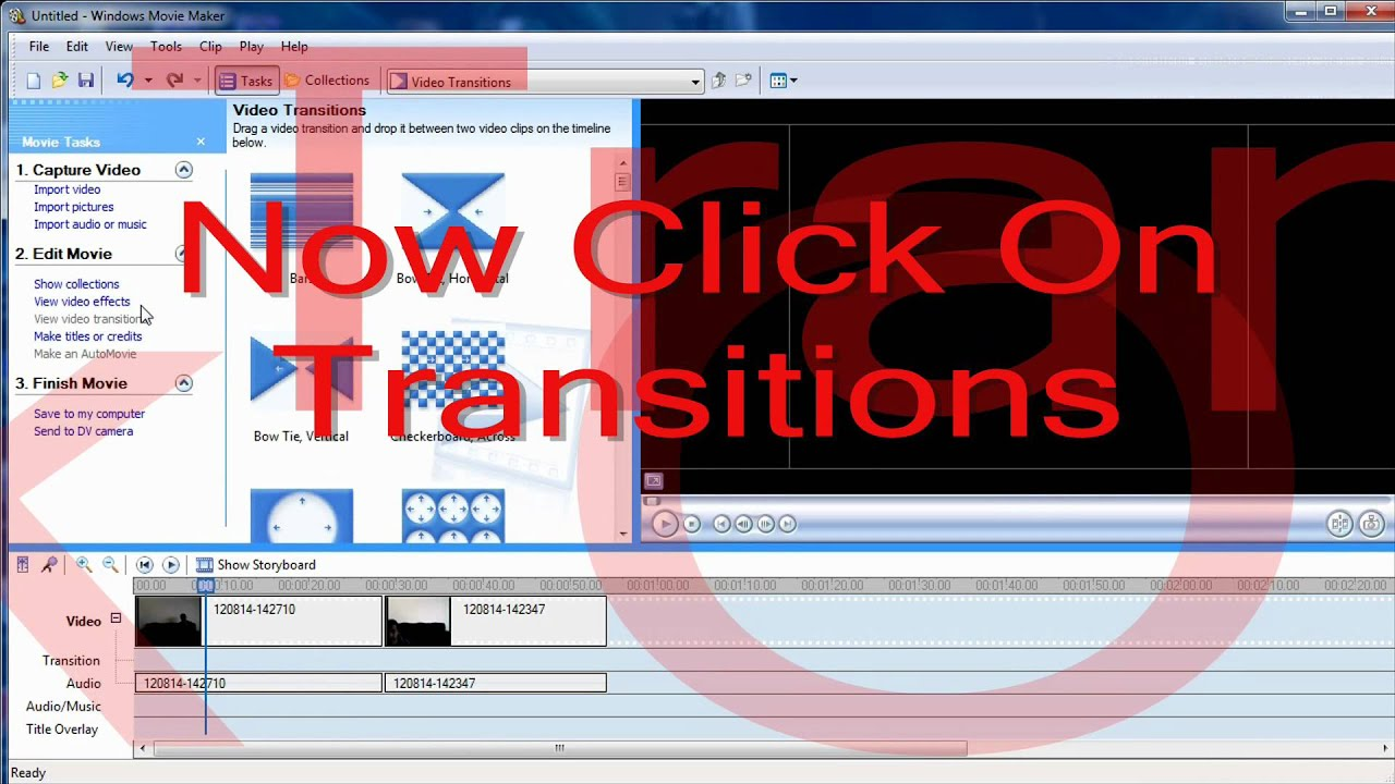 how to create video in movie maker