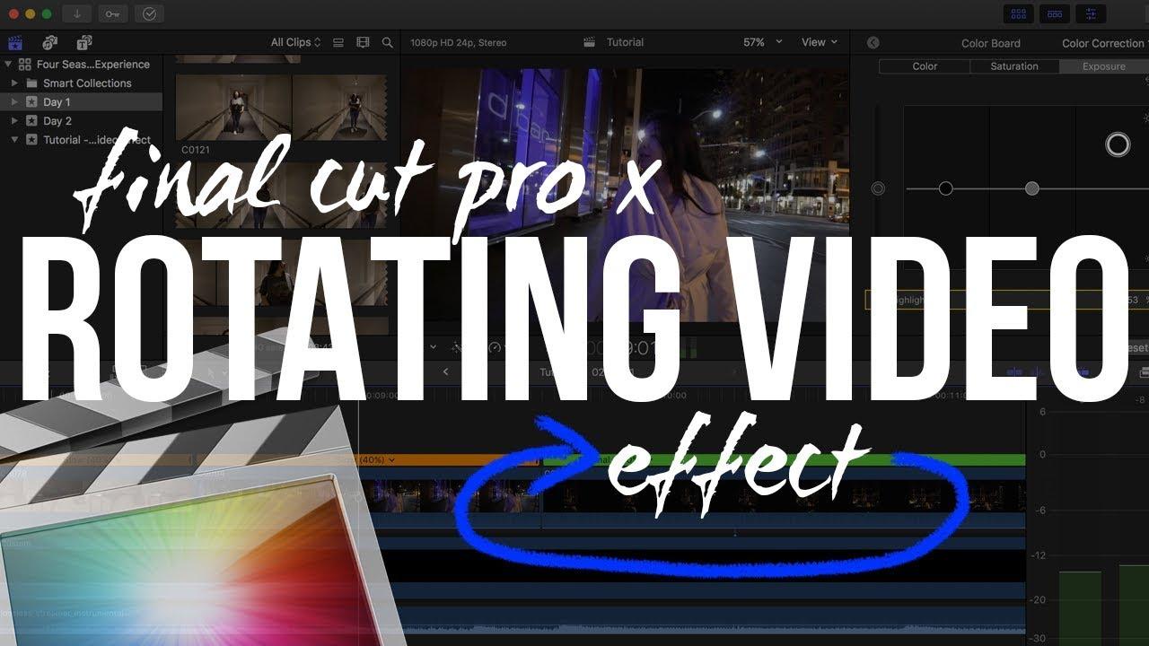 Final cut pro x tutorial cinematic rotation video effect youtube final cut pro x tutorial cinematic rotation video effect ccuart Gallery