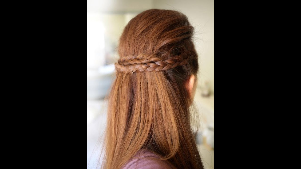 Party Half Braided Hairstyle Tutorial YouTube