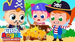 Bajak Laut di Petualangan Harta Karun! | Kartun Anak | Little Angel Bahasa Indonesia