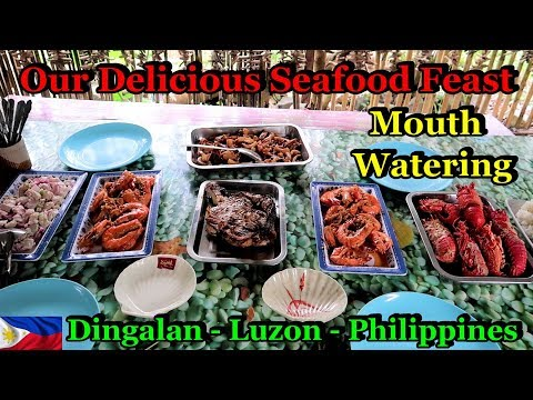 THE MOST DELICIOUS & MOUTH WATERING SEAFOOD FEAST - DINGALAN - LUZON - PHILIPPINES