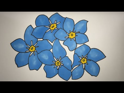How To Draw A Bunch Of Flowers Step By Step  YouTube