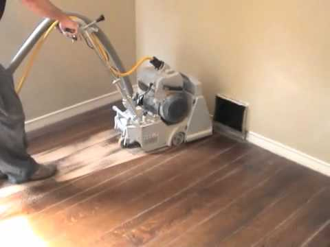 Refinishing Hardwood Floors Part 1 Sanding Youtube