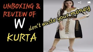 REALITY OF W BRAND LADIES KURTA FT.MYNTRA//UNBOXING & REVIEW //DON