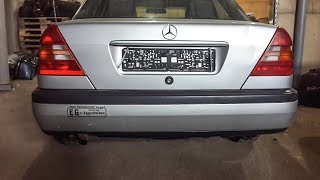 Как снять задний бампер автомобиля Mercedes Benz (Мерседес Бенц) W202.
