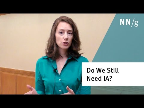Do we still need Information Architecture (IA) when users can just search? (Kathryn Whitenton)