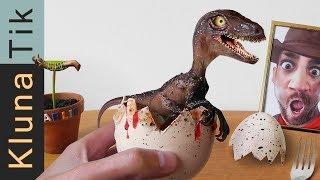 dinosaur baby egg for lunch kluna tik dinner 85   asmr eating sounds no talk