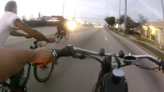 Motor Bike Miami pre Xmas ride