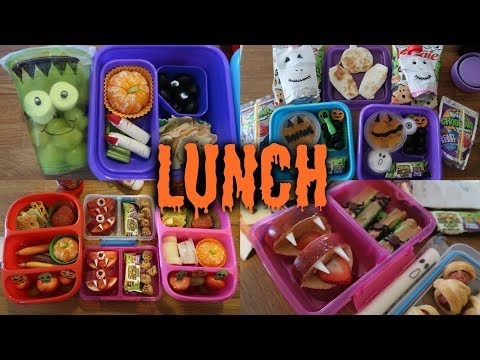Halloween School Lunch Ideas! 🎃 - Week 10  | Sarah Rae Vlogas |