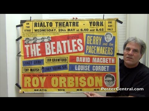 Beatles 1963 Concert Poster Masterpiece w/Roy Orbison, Pt. 2