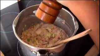 Low Fat Pasta With Ham, Leeks & Mushrooms