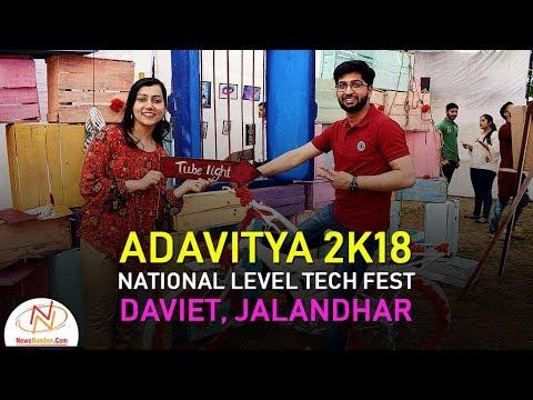 aDAVitya (अद्वितीय) 2k18, National Level Tech Fest, DAVIET, Jalandhar